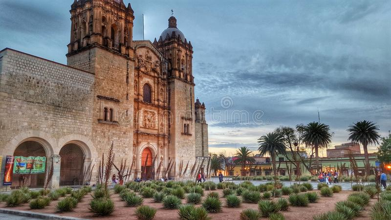 Church of santo domingo de guzman. In Oaxaca Mexico royalty free stock photos