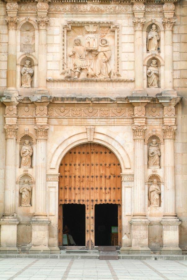 Church of Santo Domingo de Guzman on Oaxaca. Mexico royalty free stock photo