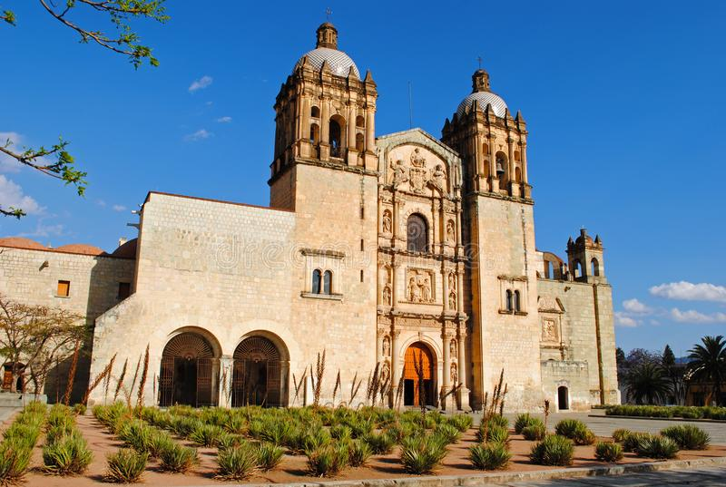 Church of Santo Domingo de Guzman in Oaxaca, Mexico royalty free stock photo
