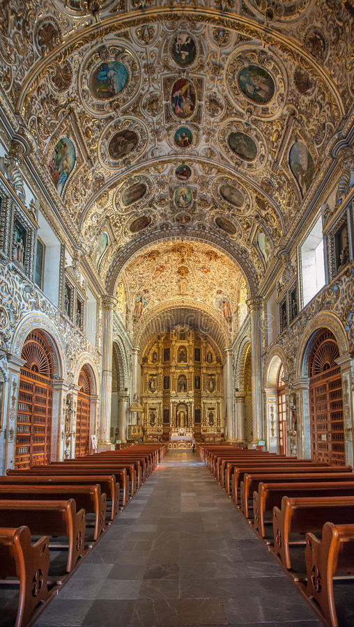Church of Santo Domingo de Guzman in Oaxaca, Mexico. Image of Church of Santo Domingo de Guzman in Oaxaca, Mexico stock image
