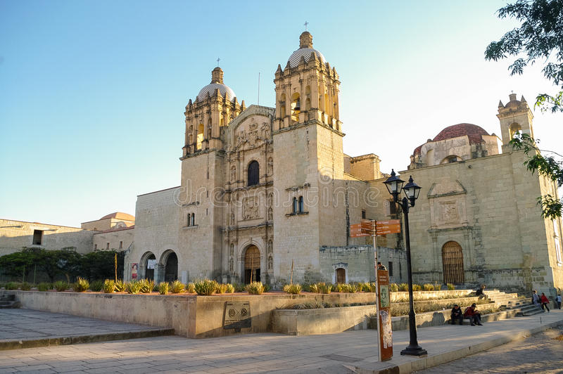 Church of Santo Domingo de Guzman in Oaxaca, Mexico royalty free stock photos