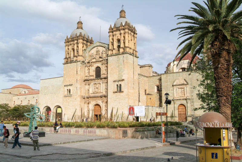 Church of Santo Domingo de Guzman on Oaxaca stock photo