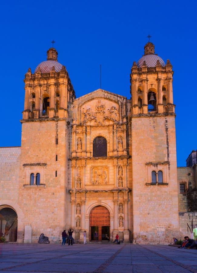 Church of Santo Domingo de Guzman. Oaxaca, Mexico royalty free stock photos