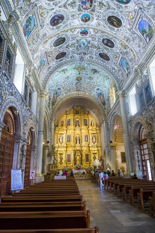 The church of Santo Domingo de Guzman in Oaxaca Mexico royalty free stock images
