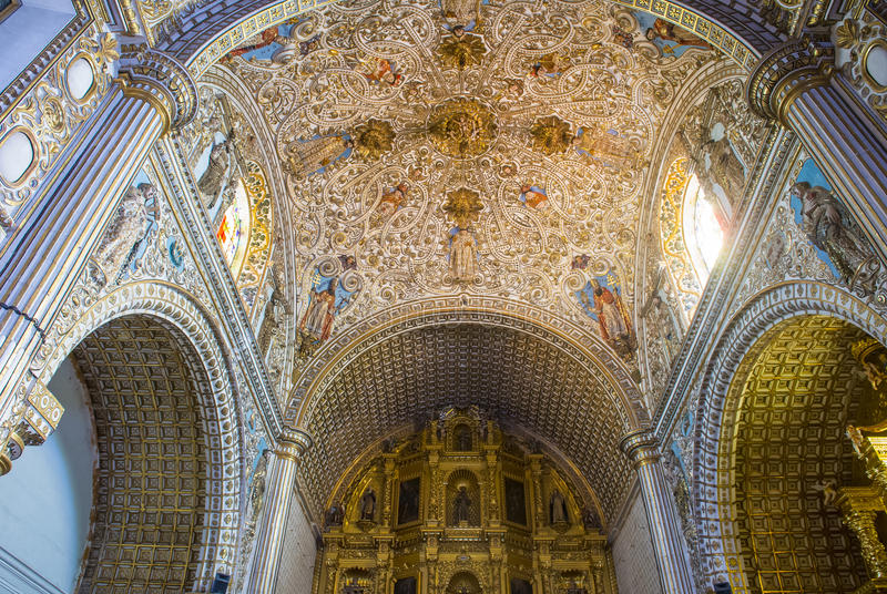 The church of Santo Domingo de Guzman in Oaxaca Mexico stock photo