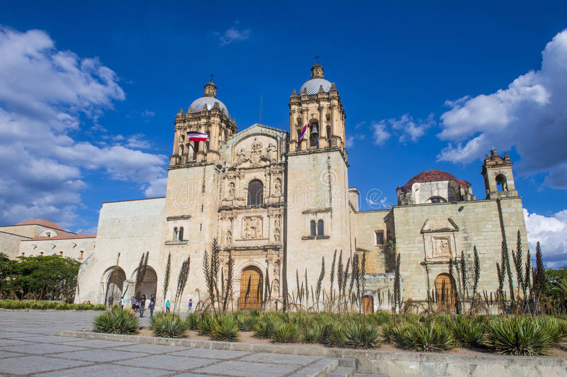 The church of Santo Domingo de Guzman in Oaxaca Mexico. OAXACA , MEXICO - NOV 02 : The church of Santo Domingo de Guzman in Oaxaca , Mexico. on November 02 2015 stock photos