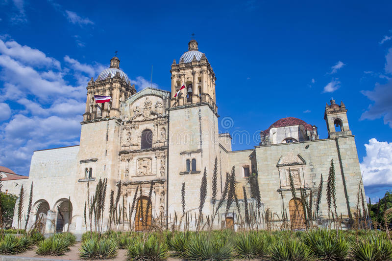 The church of Santo Domingo de Guzman in Oaxaca Mexico. OAXACA , MEXICO - NOV 02 : The church of Santo Domingo de Guzman in Oaxaca , Mexico. on November 02 2015 stock images