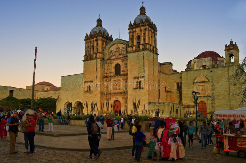 Church of Santo Domingo de Guzman. Oaxaca, Mexico stock photography