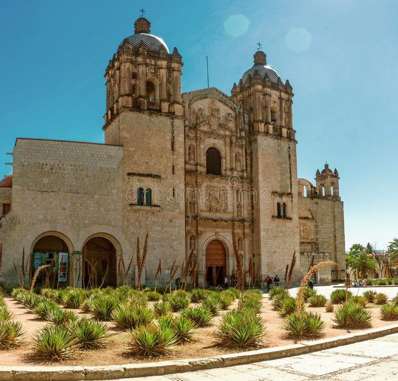 Church of Santo Domingo de Guzman. Oaxaca, Mexico stock photo