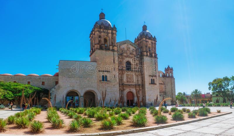 Church of Santo Domingo de Guzman. Oaxaca, Mexico royalty free stock photo