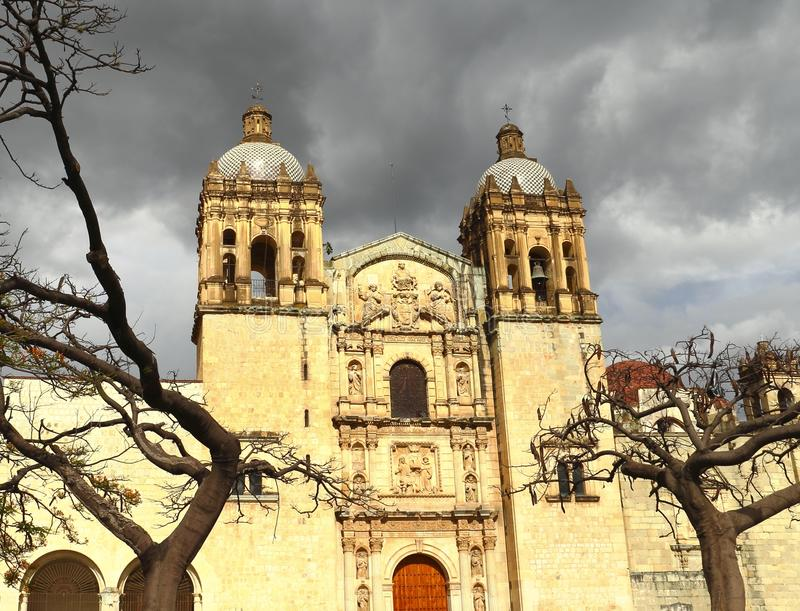 Church of Santo Domingo I. Church of Santo Domingo de Guzman in Oaxaca, Mexico royalty free stock photography
