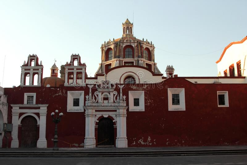 Santo Domingo Church, Puebla, Mexico stock images