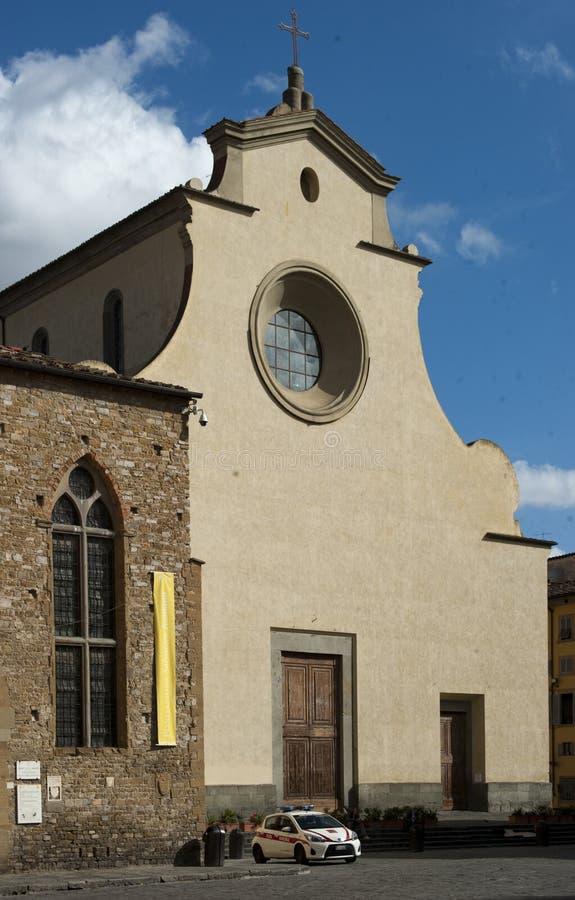 Church Santo Spirito in Florence stock foto