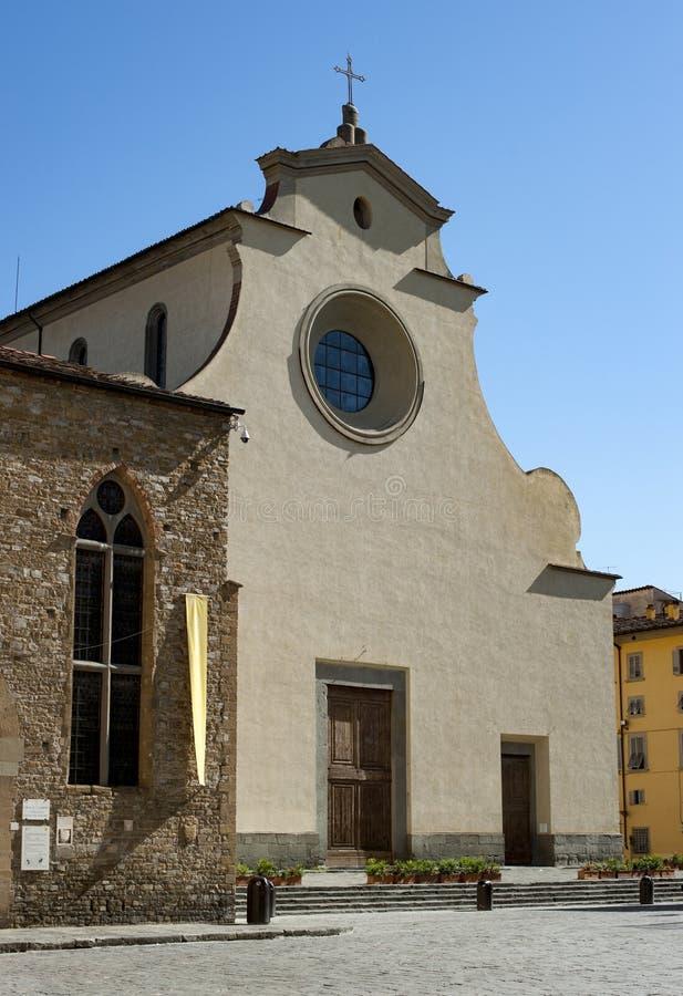 Church Santo Spirito in Florence stock afbeeldingen