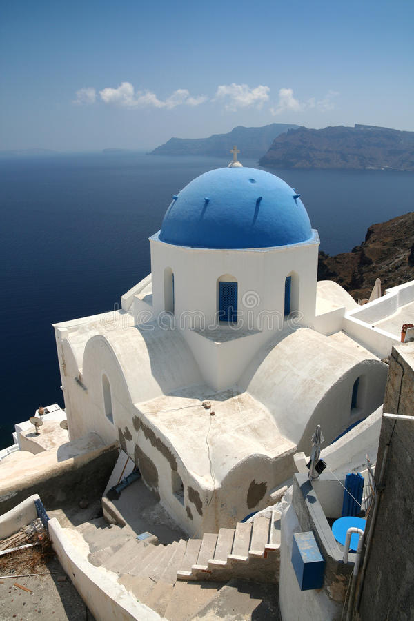 Download Church on Santorini stock image. Image of characteristic - 10138527