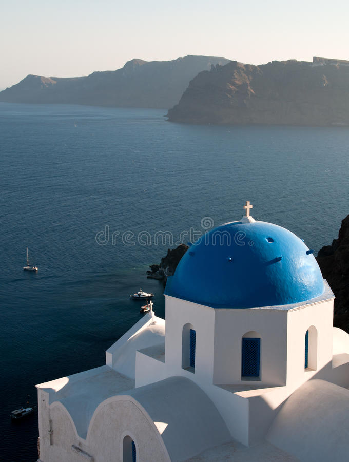 Church at Santorini island in Greece. stock photos
