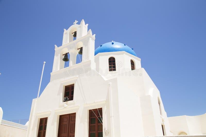 Church in Santorini stock photos