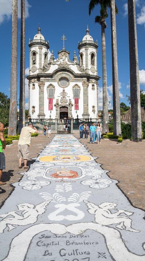 Church of Sao Francisco de Assis royalty free stock photography