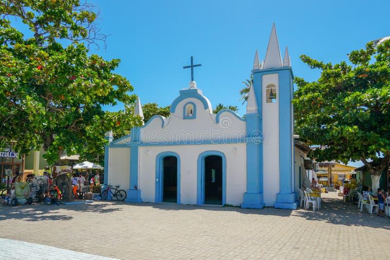 Church of Sao Francisco De Assis, Praia Do Forte stock photos