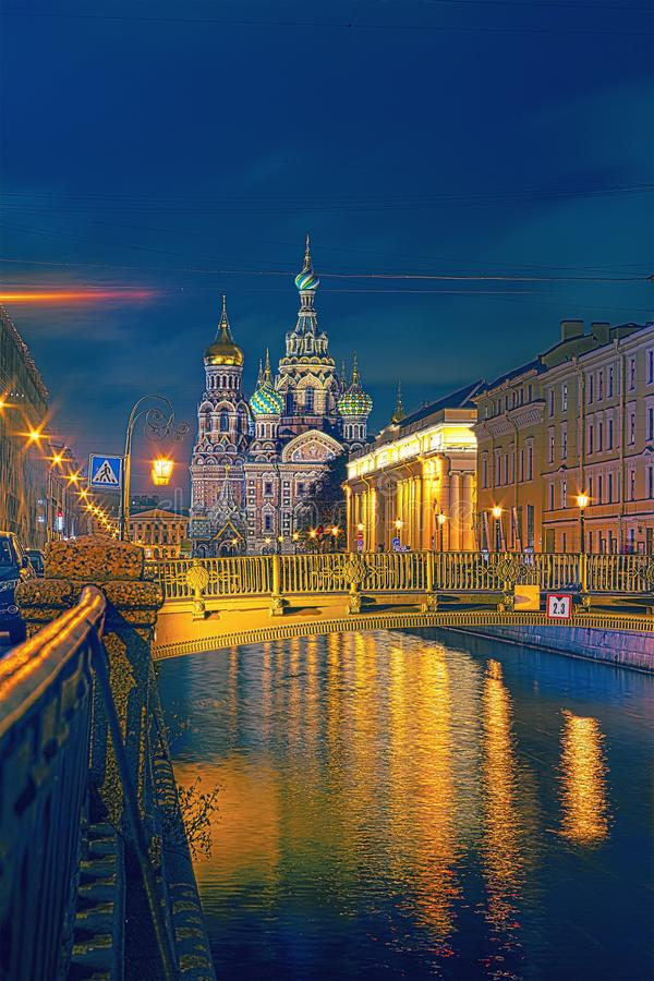Church of the Savior on Blood on Griboedov channel Quay is one of the main sights of Saint Petersburg, Russia. royalty free stock photos
