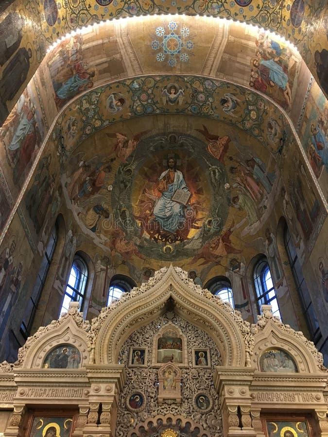 Church of the savior on blood royalty free stock photos