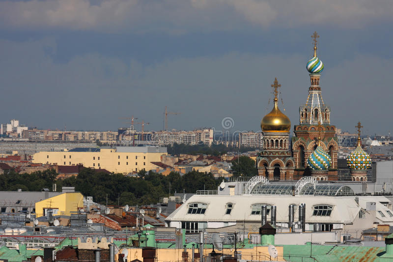 Download Church Of Savior Over The Roofs Of St-Petersburg Stock Image - Image: 26597845