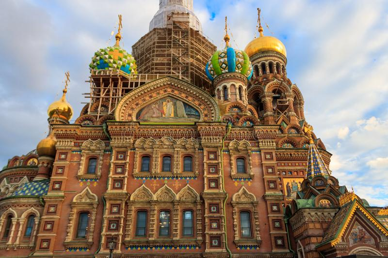 Church of the Savior on Spilled Blood or Cathedral of the Resurrection of Christ is one of the main sights of Saint Petersburg, royalty free stock photography