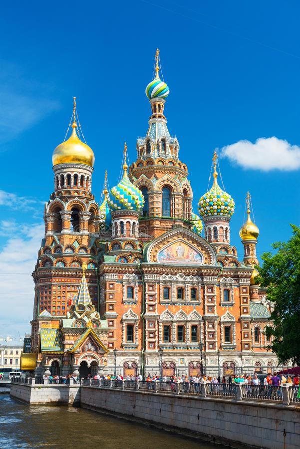 Church of the Savior on Spilled Blood in Saint Petersburg, Russia stock photos