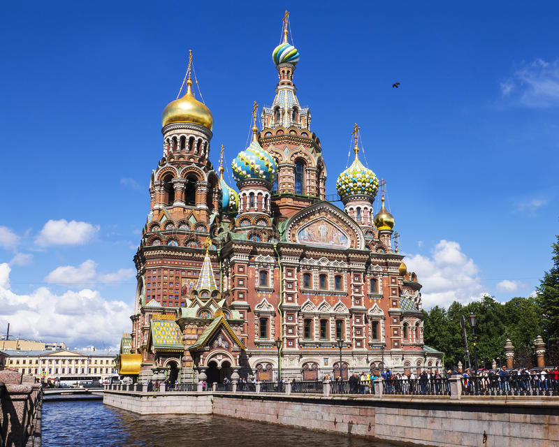 Church of the Savior on Spilled Blood, St. Petersburg, Russia royalty free stock images