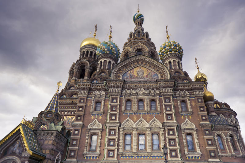 The Church of the Savior on Spilled Blood - St. Petersburg, Russia stock photo