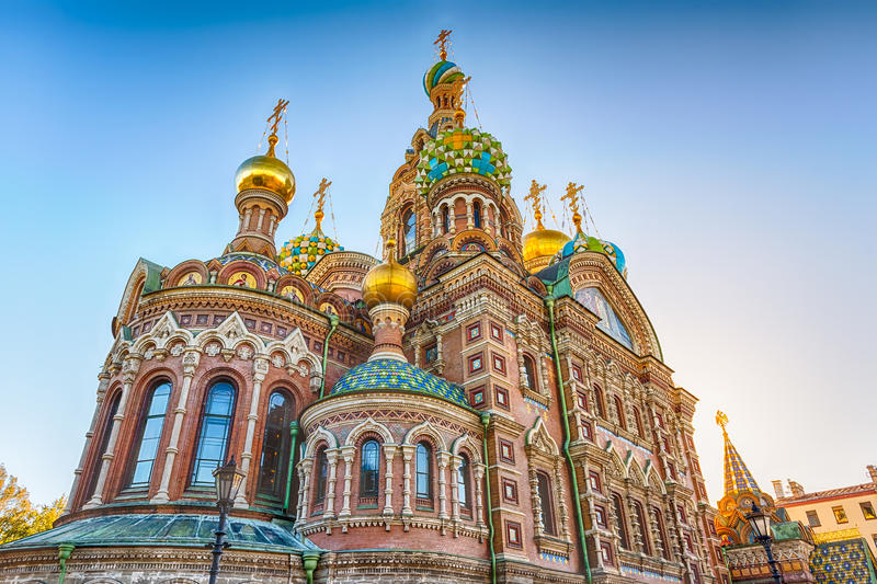 Church of the Savior on Spilled Blood, St. Petersburg, Russia royalty free stock image