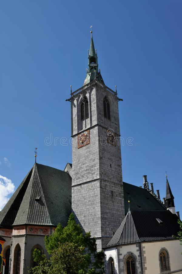 Download Church in Schwaz stock image. Image of tower, christianity - 26124957