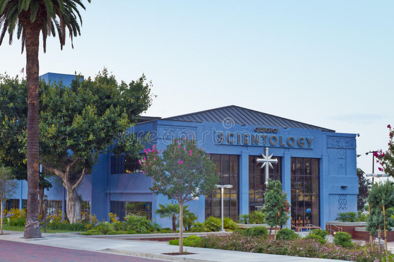 The Church of Scientology in Los Angeles stock image