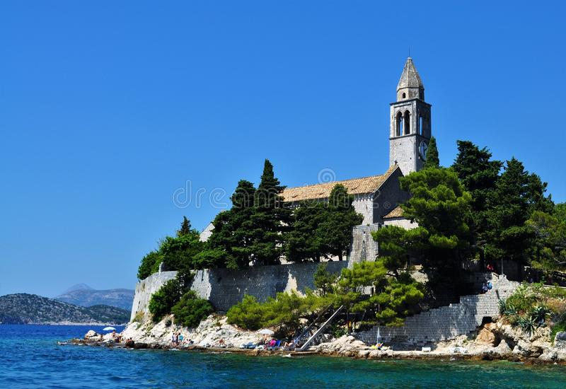 The church by the sea - Lopud Island stock images