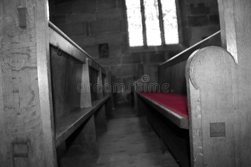 Church seats royalty free stock images