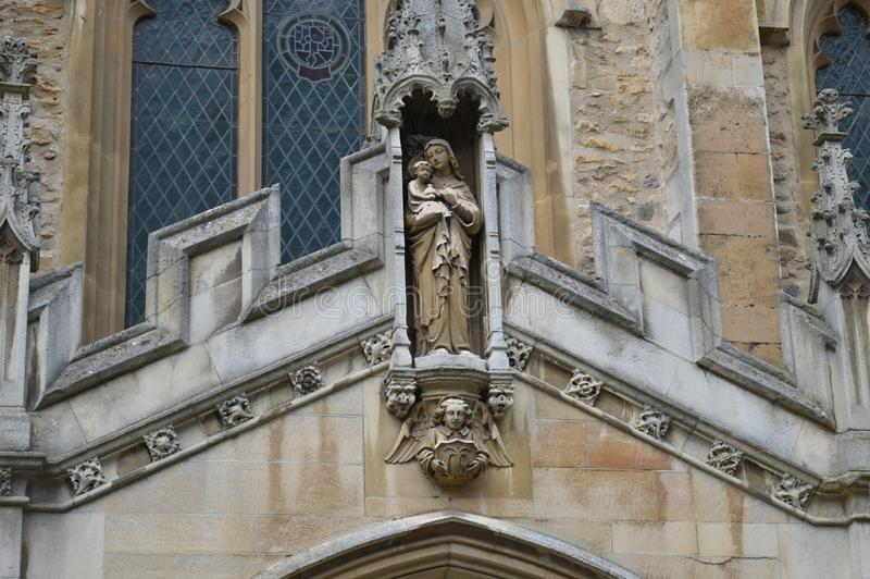 Church showing a saint in england stock image