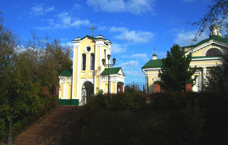 The Church in the Siberian city of Tomsk. royalty free stock image