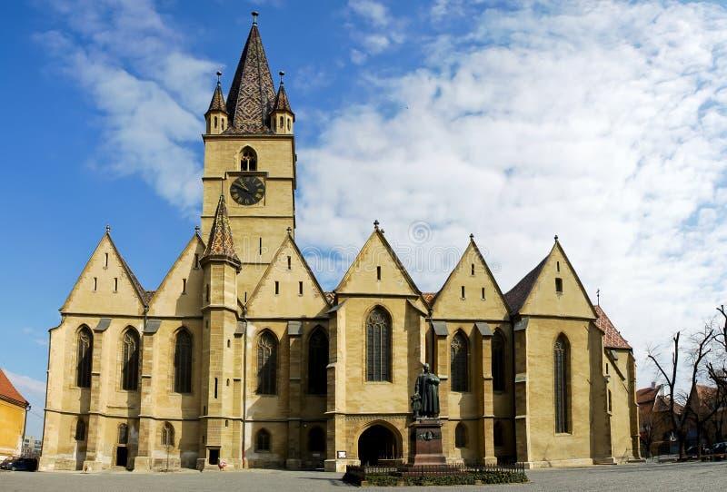 church in Sibiu stock image