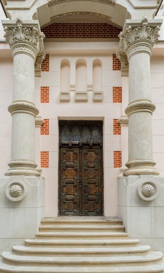 Church side entrance stock photo