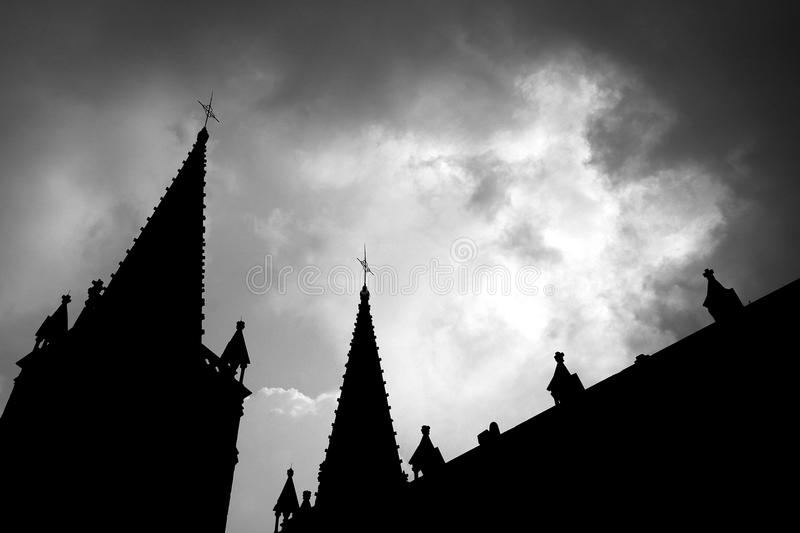 Download Church of the silhouette stock image. Image of grave - 22174151