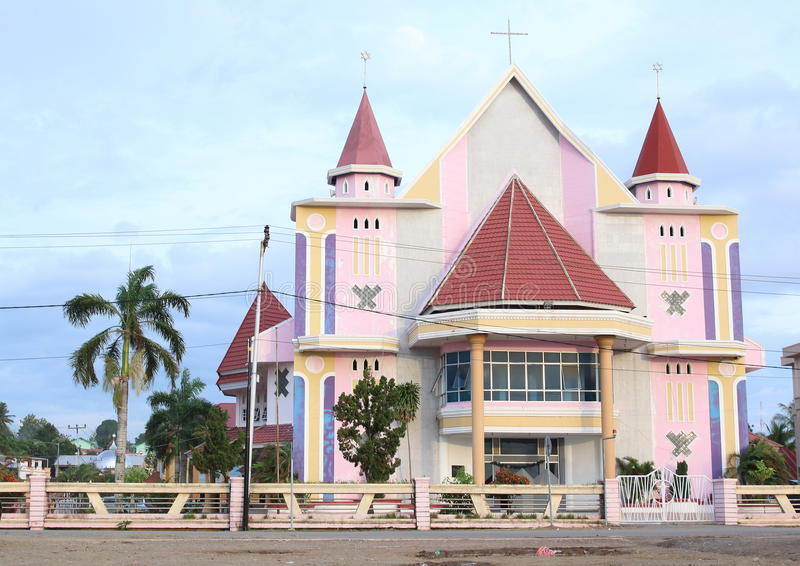 Church in Sorong. Protestant church Gereja Imanuel Boswesen in Sorong (Papua Barat, Indonesia royalty free stock image