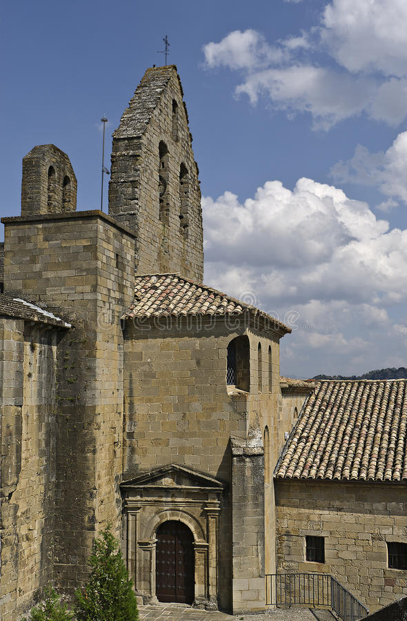 Church of the SOS del Rey Catolico stock photos