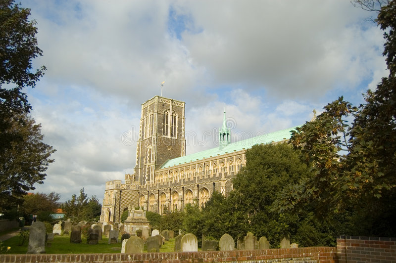 Church at southwold royalty free stock image