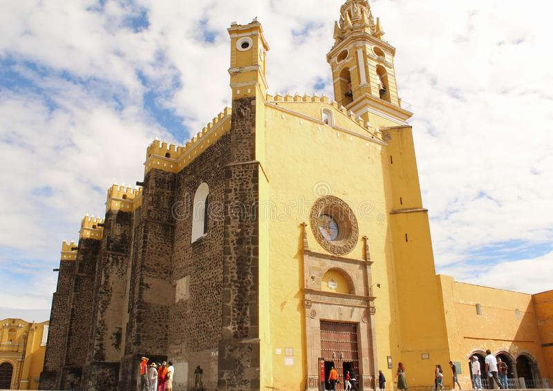 Church of the Spanish colony in Mexico. This is the legacy of the mixture of cultures, between the Spaniards and the natives of Mexico, which resulted in a stock photos
