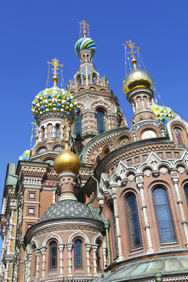 Church On Spilled Blood Russia Stock Image