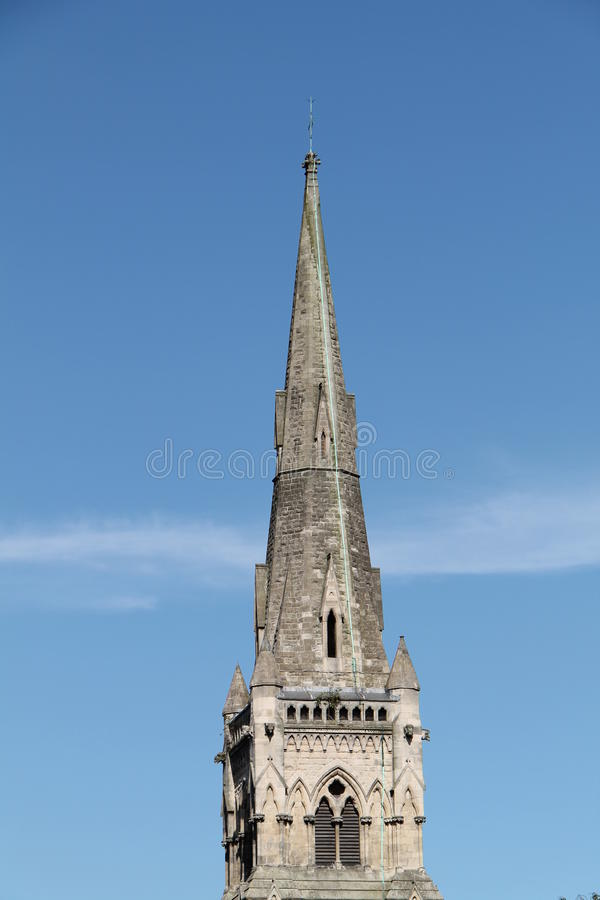 Church Spire. The Tall Spire of a Classic English Church stock images