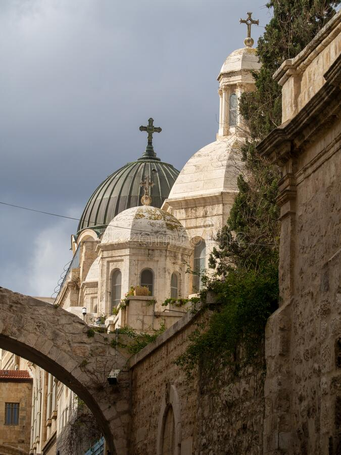 Free Church Spires On Via Dolorosa, Jerusalem Royalty Free Stock Photo - 174734015