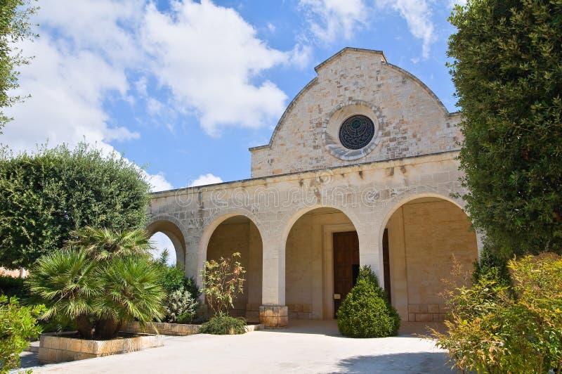 Church of SS. Maria Addolorata. Fasano. Puglia. Italy. Perspective of the Church of SS. Maria Addolorata. Fasano. Puglia. Italy royalty free stock photo