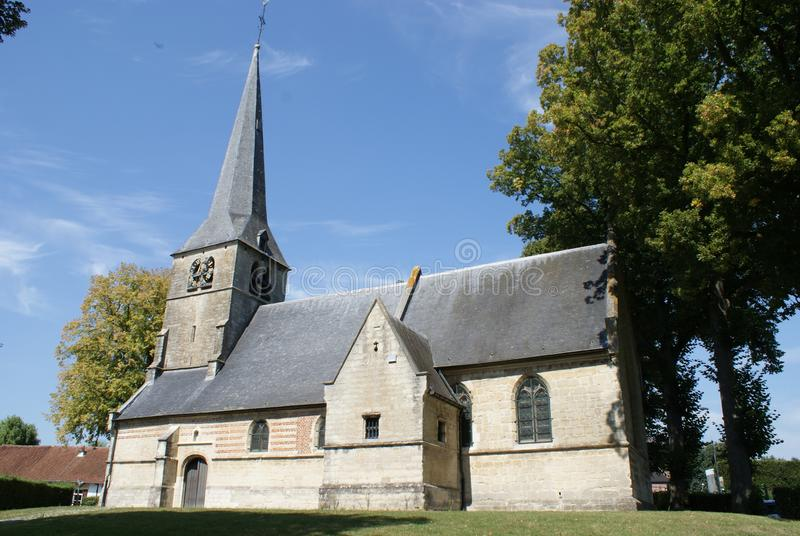 Church of St. Anna Pede in Flemish Brabant. stock image