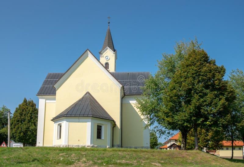 Church of St. Anthony of Padua at Dreznik Grad. Croatia royalty free stock photos
